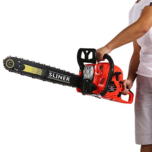 58cc 20'' 2 Stroke Cordless Gas Chainsaw, 3.4HP Engine 2.0KW Gasoline Petrol Cutting Wood Chainsaw with 23 Sets of Small Tools, Board Sets--US STOCK by Kaluo