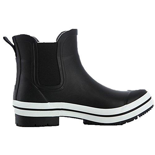 Tube Waterproof UK7 Women's Short Low Boots Color CN42 Shoes Female EU41 Boots Black Rain Anti 8 Adult Boots Wear Rain sexy 5 Rubber Boots Black skid Rubber Fashion Size qx7S5qw
