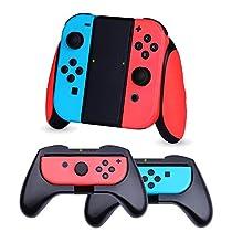 任天堂スイッチ ジョイコン グリップ (3個セット)【HEYSTOP】Nintendo switch Joy-Conコントローラー ハンドル switch Joy Con ハンドル SL/SRボタン付き 装着簡単 手触り良い 遅延なし 操作しやすい マリオカート