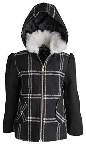 Rothschild Little Girls Wool Look Winter Dress Pea Coat w...
