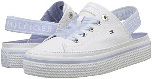 Blanc Femme 100 Back Sneakers white Flatform Pastel Tommy Hilfiger Basses Sling aw08v