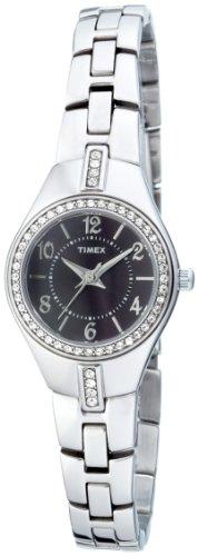 Timex Women's T2M740 Classic Crystal Sport Chic Silver-Tone Bracelet Watch
