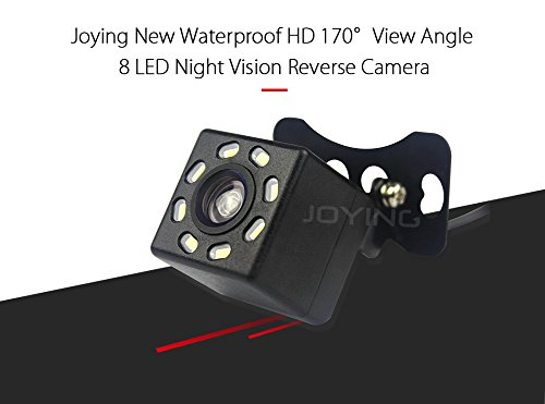 JOYING Waterproof High-definition 170° View Angle 8 LED Night Vision Car Rear View Backup Reversing Parking Camera Kit (C1002-1)