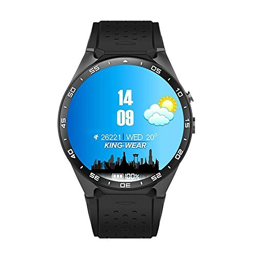 Teepao KW88 3G Smart Watch WIFI Smartwatch Cell Phone All-in-One Bluetooth Smart Watch Android 5.1 SIM Card with GPS,Camera,Heart Rate Monitor,Google Map, Google Play