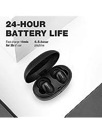 1 MÁS Elegante True Auriculares in-ear inalámbricos - Bluetooth - 6,5 horas de batería - Carga rápida de 15 minutos para 3 horas de uso - Estuche de carga portátil para auriculares incluido - Auténticos auriculares inalámbricos
