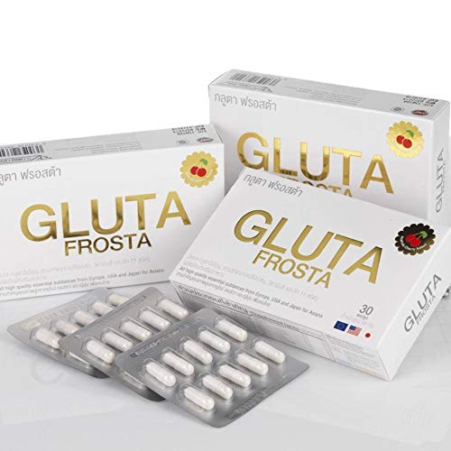 2 Boxes.Gluta Frosta ''3x Triple Gluta Booster'' (1 Box. x 30 Capsules.) For white skin, reduce wrinkles, acne, freckles, dark spots and tighten the skin