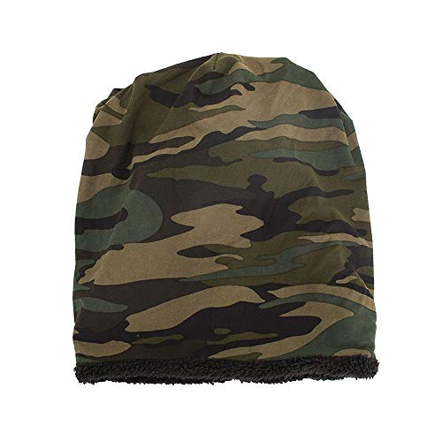 Columbia Wool Beanie - Hot Sales!! ZOMUSAR Unisex Warm Baggy Camouflage Crochet Winter Wool Ski Beanie Skull Caps Hat (Army Green)