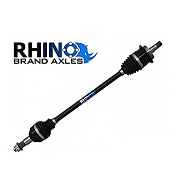 Image of Axles SuperATV Heavy Duty Rhino Brand Rear Axle for Polaris Ranger Full Size XP 900 / Crew - Stock Length REAR Axle - Upgrade From Your OEM Axle!