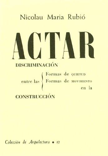 Descargar Libro Actar. Discriminacion... Nicolau Maria Rubio