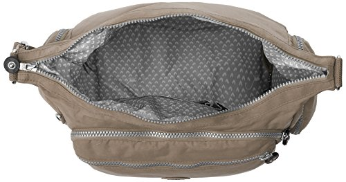Kipling Gabbie - Bolso de hombro Mujer Gris - Grey (Warm Grey)