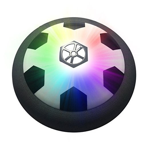 Air Power Soccer Disc,Pneumatic Suspended Football with Foam Bumpers and LED Lights,Disk Gliding Ball Disc Toy for Indoor and Outdoor,Luyuan - Indoor Soccer Disc