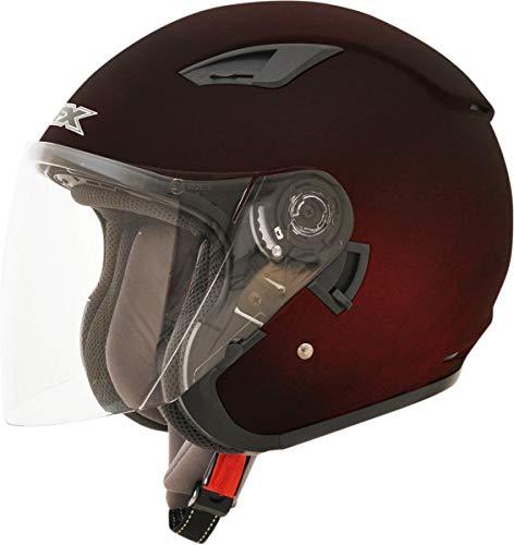 AFX FX-46 Unisex-Adult Open-Face-Helmet-Style Helmet (Wine Red, X-Large)