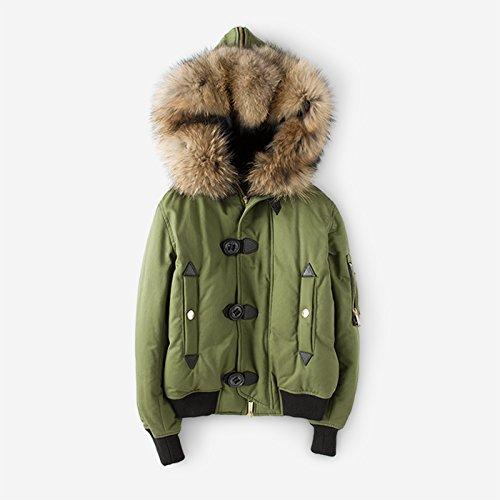 Double Women Hood Winter Warm And 1780 Xuanku Long Short Paragraph green Army Jacket Autumn Down Thick qYEx7U0