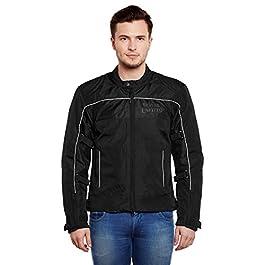 Royal Enfield Nylon Black Riding Jacket for Men Size (M) 40 CM (RRGJKH000014)