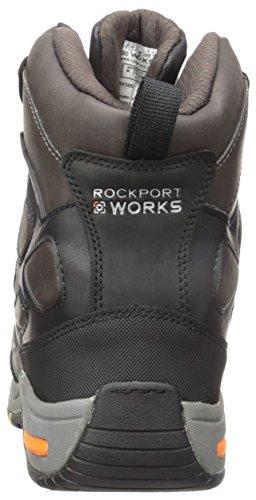 Travail Rockport Mens Chaussures De Travail Prompteur Rk5660 Noir