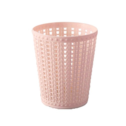 (Mini Trash Can,NszzJixo9 Trumpet Desktops Creative Covered Kitchen Living Room Skinny Trash Can, Small Garbage Can Wastebasket for Narrow Spaces at Home or Office (Pink))