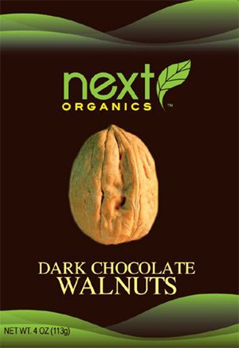 (Next Organic Walnuts Dark Chocolate Covered, 3-Ounce (Pack of)
