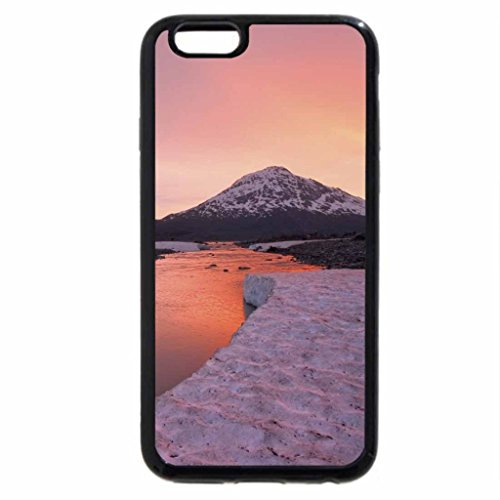 iPhone 6S Case, iPhone 6 Case (Black & White) - wonderful river in canada on a winter sunset