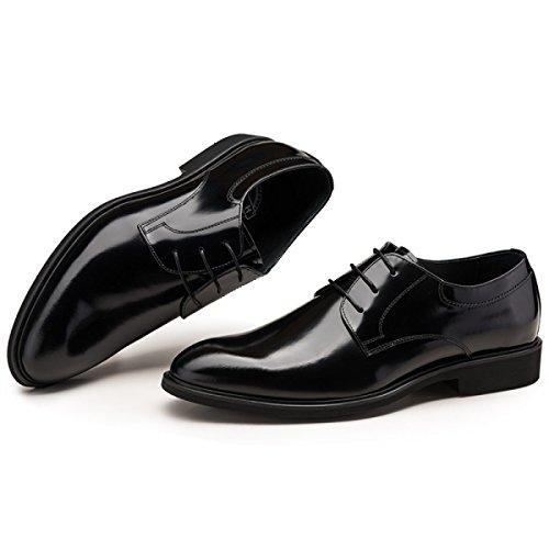 Confortable Pour Banquet Cuir Appointés GRRONG Black Chaussures D'affaires Loisirs En Hommes qxztOROn7w