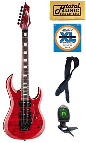 Dean Guitars MAB3 FM TRD Michael Batio Flame Top Solid-Body Guitar, Trans Red, Bundle