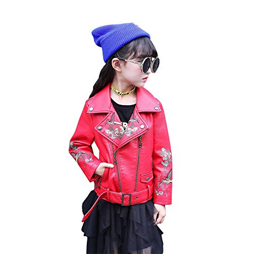 - The Twins Dream Girls Leather Jacket Kids Leather Jackets Boys Motorcycle Jacket Girls Coat Red