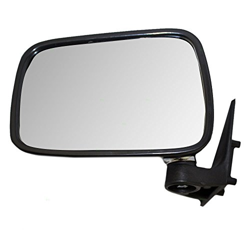 Drivers Manual Side View Mirror with Chrome Cover Replacement for Mazda Pickup Truck UE5569180