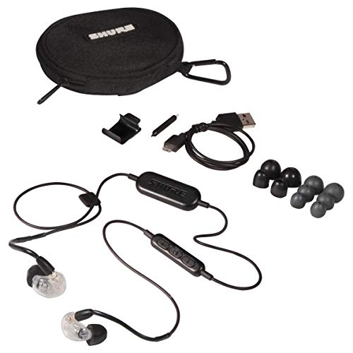 Shure SE215-CL-BT1 Wireless Sound Isolating Earphones - Clear, Bundled w/RMCE Remote & Microphone Cable (SE215-CL-BT1 Earphones)
