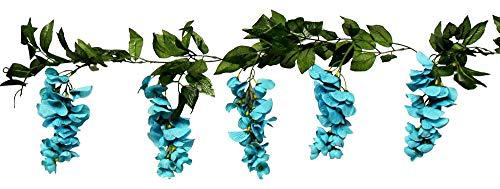 Beautiful Wisteria Garland Turquoise Teal Aqua Silk Wedding Flowers Decoration