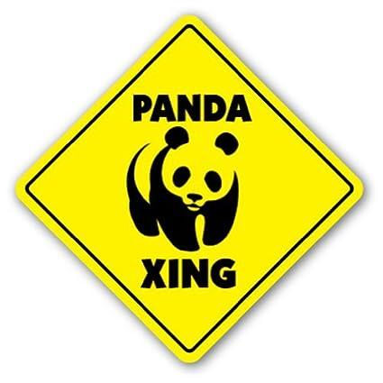 amazon com funny decorative signs panda crossing sign xing signs