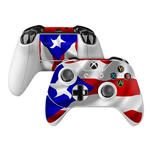 Puerto Rican Flag Skin Decal Compatible with Microsoft Xbox One and One S Controller - Full Cover Wrap for Extra Grip and Protection from DecalGirl