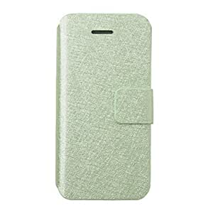 Fashion Colorful leather Case for iPhone 5(Assorted Color) , Green