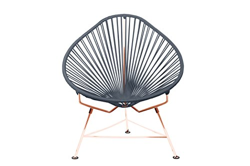 Innit Designs i01-04-06 Acapulco Chair Grey Weave on Copper Frame, Ivory Black (Frames Chair Toronto)