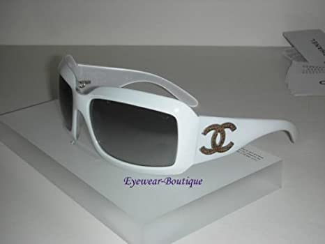 444404f88db7 Image Unavailable. Image not available for. Color: Chanel 6022 Sunglasses  Sun Glasses GREY Lens WHITE Frame