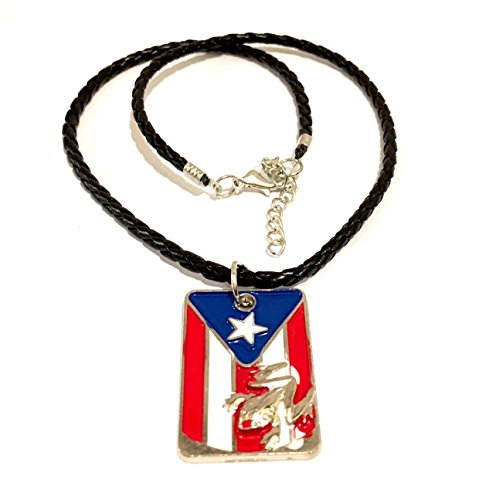 - Puerto Rico flag Necklace design, Boricua, Puerto Rican