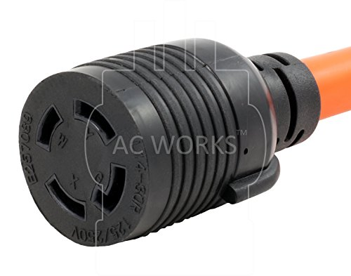 AC WORKS [S1450L1430-018] 1.5FT STW 10/4 NEMA 14-50P 50Amp RV/Range/Generator Plug to L14-30R 4-Prong 30Amp Generator Locking Female Connector by AC WORKS (Image #3)