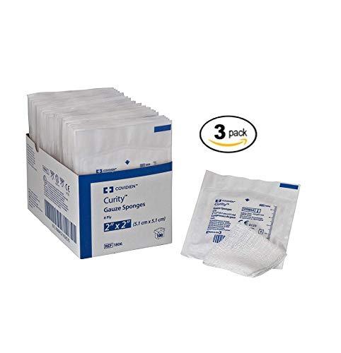 - Covidien 1806 Curity Gauze Sponge, Sterile 2's in Peel-Back Package, 2