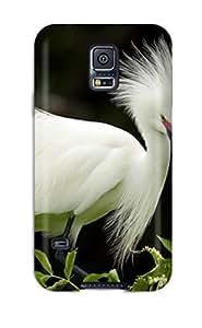 Galaxy S5 RiHWzZg5601JjRSh Snowy Egret In Breeding Plumage Tpu Silicone Gel Case Cover. Fits Galaxy S5