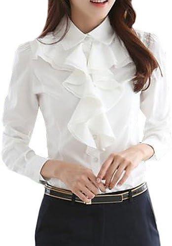 Camisas para mujer y chemisiers blusa TS a volantes manga ...