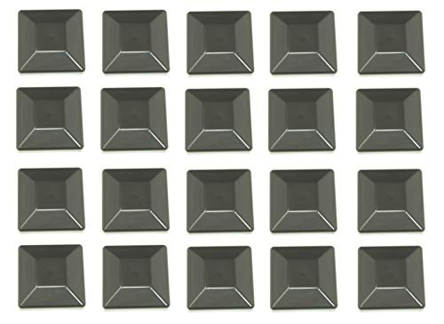JSP Manufacturing Plastic New Fence Post Black Caps 4X4 (3 5/8) Pressure Treated Wood Made in USA MULITPACK Wholesale Bulk (20)