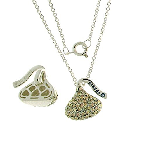 Hershey Kiss CrystalCharm Pendant With Chain 18