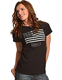 Women's and Stripes T-Shirt - 15361501Jd-89