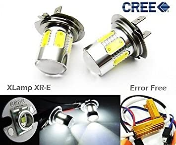 H7 60W High Power 6000K Cree LED Fog Driving DRL Daytime Light HID 6000LM lamp