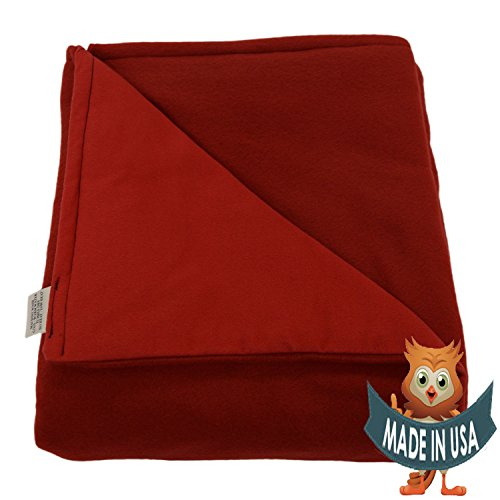 Adult Large Weighted Blanket by Sensory Goods 15lb Medium Pressure - Red - Fleece/Flannel (42'' x 72'') by SENSORY GOODS