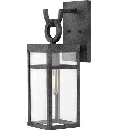 Wall Sconces 1 Light With Aged Zinc Clear Aluminum Medium Base 19 inch 100 Watts