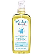 Live Clean Baby & Mommy Gentle Moisture Bath and Massage Oil, 125 mL