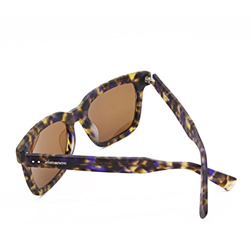 Hourvun Squre Wayfarer Style Sunglasses of Blue Tortoise Shell Color Brown for - Sunglasses Shell