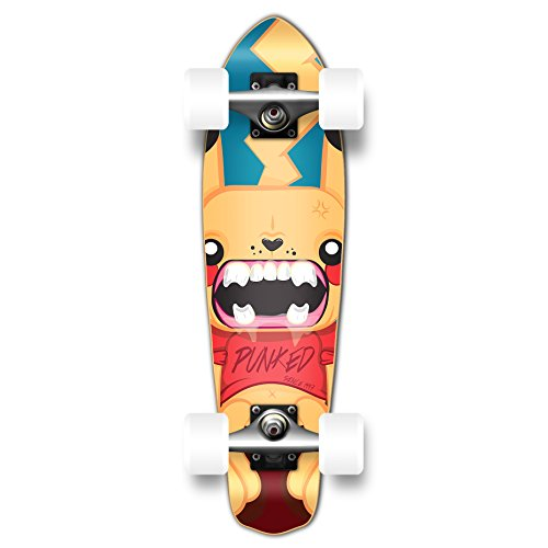 Complete Mini Longboard Skateboard - Yocaher Pika Punked Complete Skateboards Available in 7.75