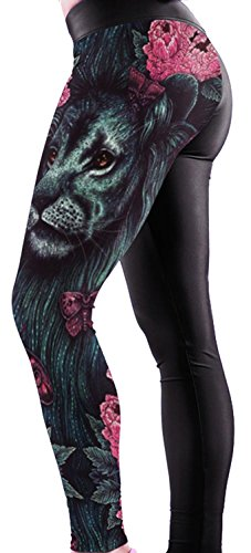 Anmengte Halloween Masquerade Party Cosplay Costume Legging 3D Printed Pants (one size) ()