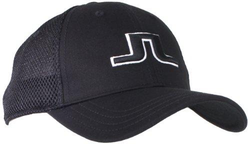 J.Lindeberg Men's Bon Flexi Twill Cap, Black, One Size