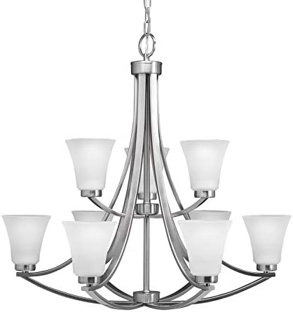 Portfolio Lyndsay 9-Light Brushed Nickel Chandelier